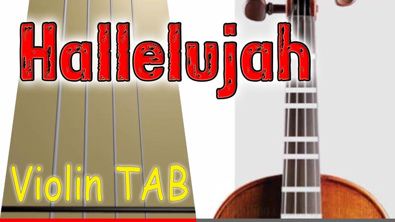 Hallelujah - Violin - Play Along Tab Tutorial - YouTube