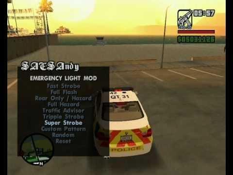 ELM v9 for GTA SA (Emergency Light Mod) for GTA San Andreas