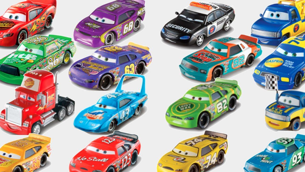 disney pixar cars piston cup racers complete set lightning mcqueen chick hicks