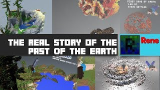 The real story of the past of the Earth (Minecraft 4000 Blocks long build)