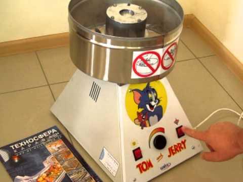Аппарат сладкой ваты - полный обзор (candy machine) - YouTube