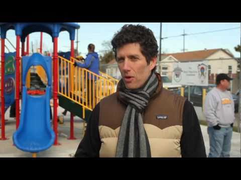 Better Than Ezra builds playground for Bethune Elementary School