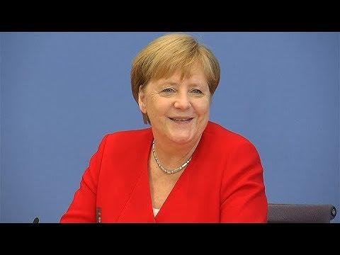 La canciller alemana Angela Merkel habló de su estado de salud