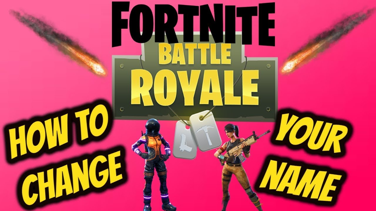 FORTNITE How to change your name (Fortnite Name Change ...