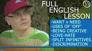 Misterduncan's Full English Lesson 31 - What is a Split Infinitive? What Does Discrimination Mean?
