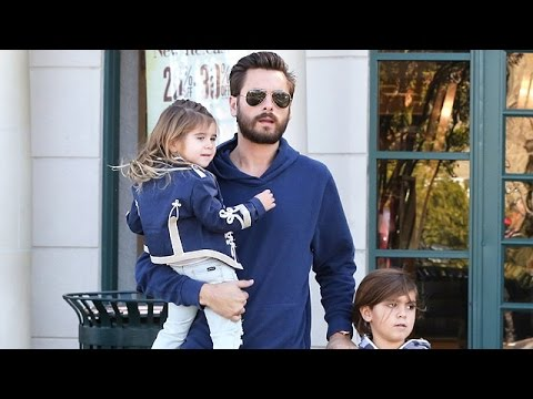 Scott Disick, Out With Kids Before His New Year's Bash, Is Asked About Rob Kardashian