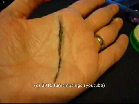 special fx tutorial how to use scar wax to make a cut