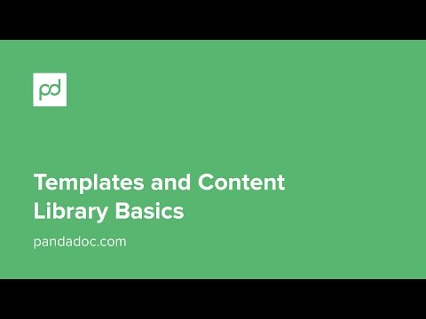 PandaDoc Templates and Content Library Basics