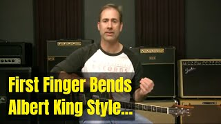 Blues Soloing Lesson   First Finger Bend Ideas And Licks