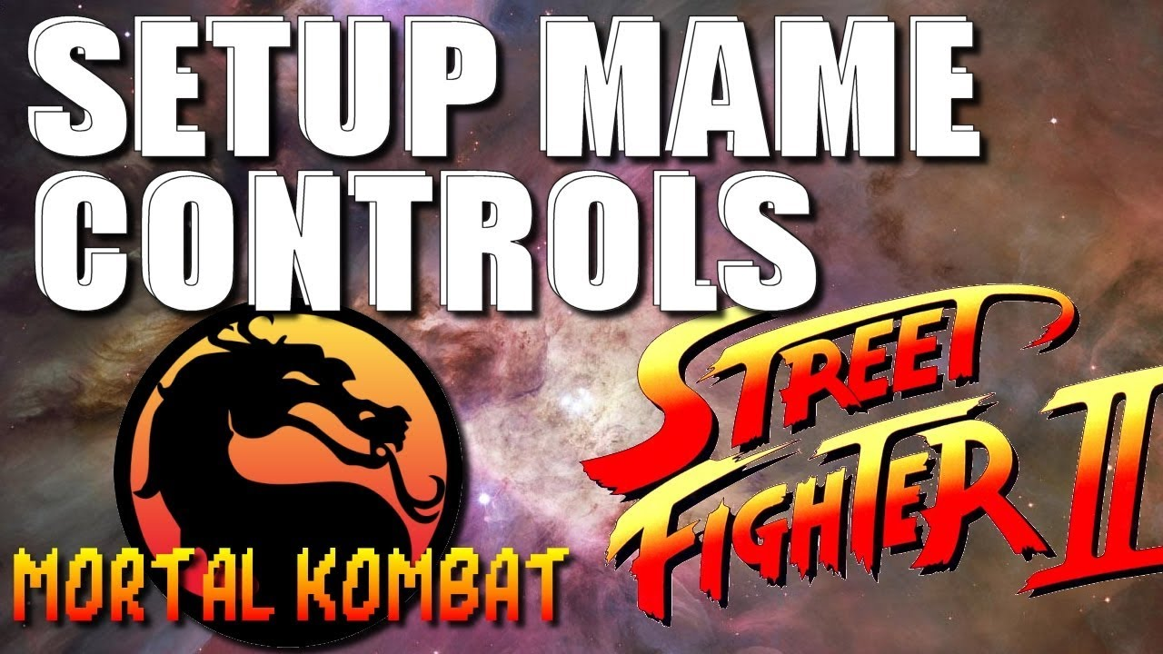How To Setup MAME Controls for Mortal Kombat and Street Fighter 2 (RetroPie  and Arcade 1up)