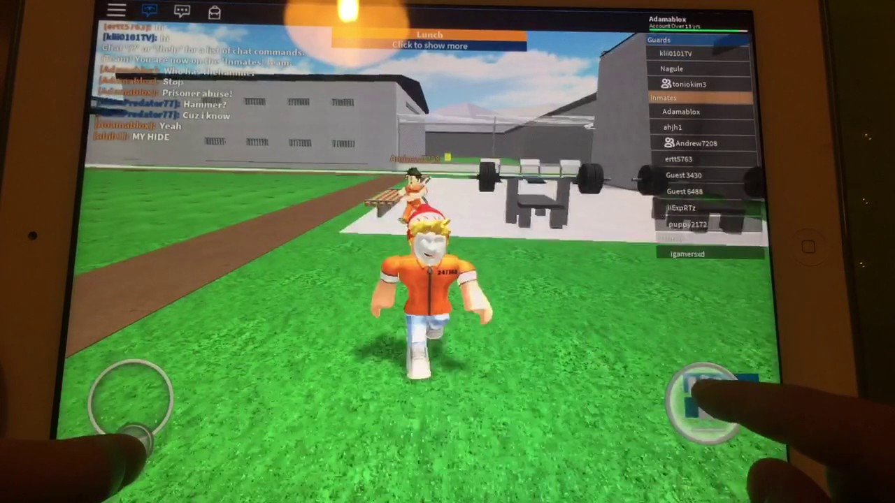 How to crawl in prison life on mobile - Kinda | Roblox |