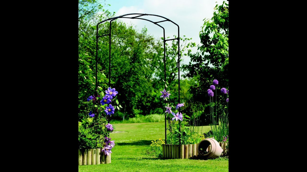 Cool Garden Arch Metal YouTube
