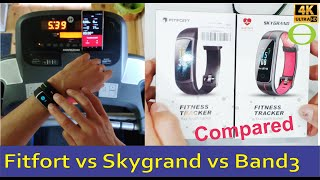 Amazon Skygrand vs Fitfort fitness trackers - Compared and tested