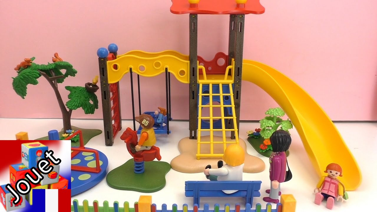aire de jeux playmobil construction et review partie 2 la grande aire de jeux playmobil youtube. Black Bedroom Furniture Sets. Home Design Ideas