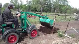 Самодельный Трактор Погрузчик.Модель №1 /С Обычным Ковшом.
