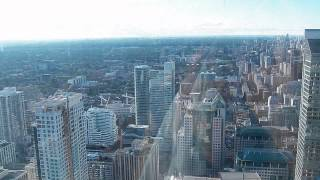 HD Riding Up the World's Tallest Glass Elevator to Top of CN Tower 120 Floors Above Toronto Canada