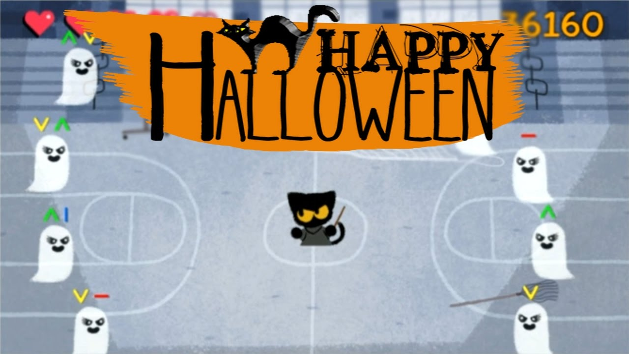 Halloween Cat Game // Google Homepage (Google Doodle) - YouTube