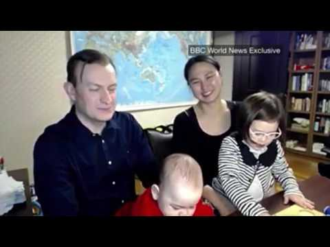 Robert Kelly from viral BBC interview shares about being interrupted with his wife and children