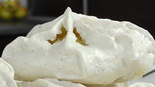 Пирожное безе с вафлями и орехами видео рецепт