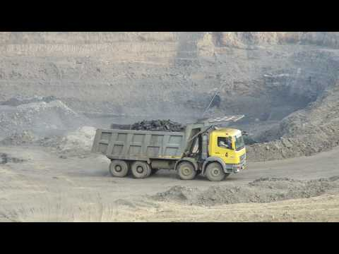 Visiting a Open coal mine pit, Asansol, west bengal