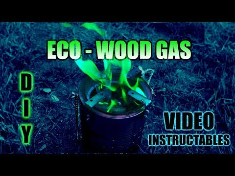 How to make wood gasifier camp stove from 2 tin cans