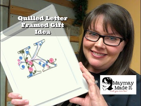 Quilled Initial Project Tutorial Gift Idea