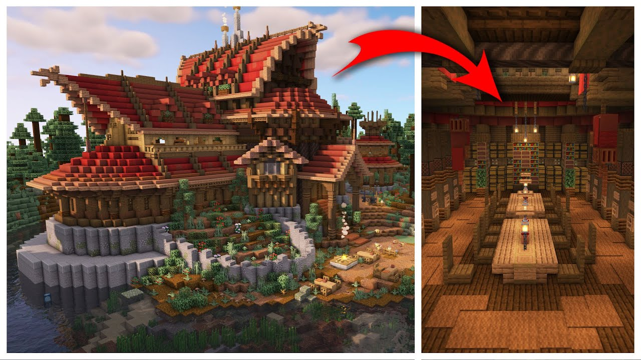 Building an Epic Minecraft Library And Storage!