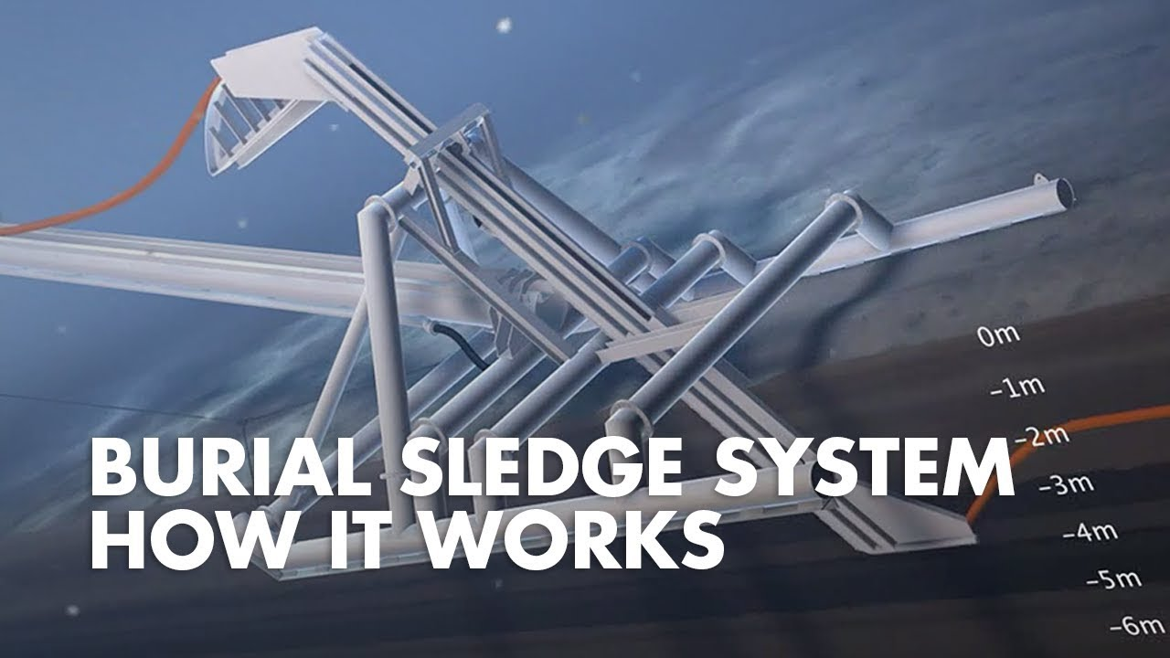 Subsea Cable Laying Burial Sledge System Youtube