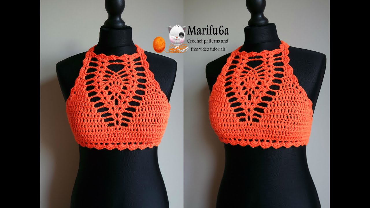 Crochet Free Pattern Halter Top : How to crochet easy halter top all sizes pattern by ...