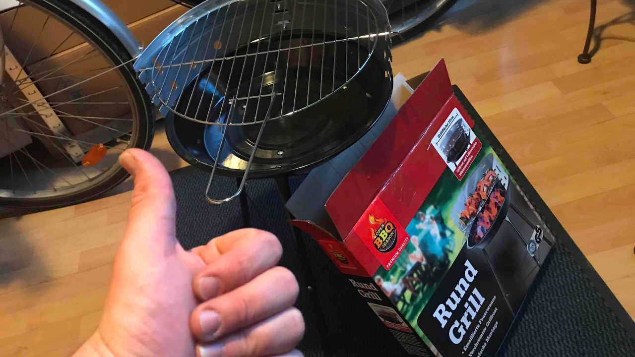 Florabest Holzkohlegrill Mit Aktivbelüftung Anleitung : Rund grill bbq mini kohle grill party grill holzkohlengrill unboxing