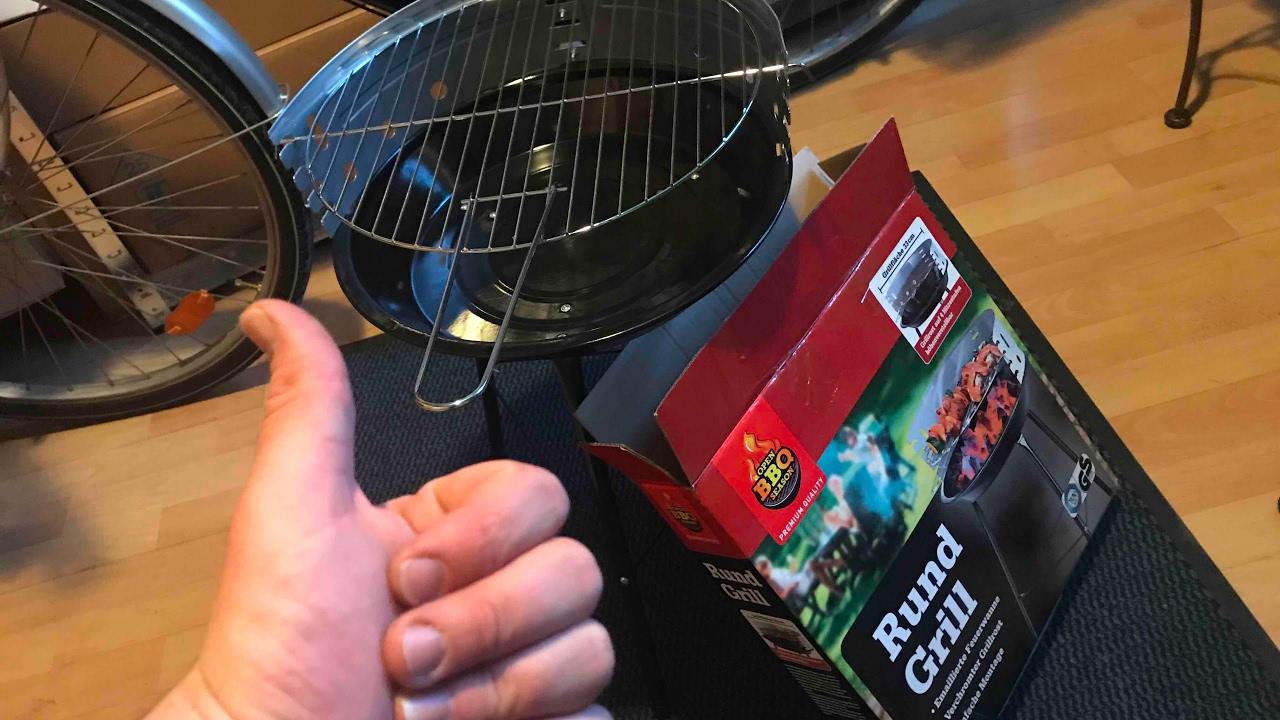 Florabest Holzkohlegrill Anleitung : Rund grill bbq mini kohle grill party grill holzkohlengrill unboxing