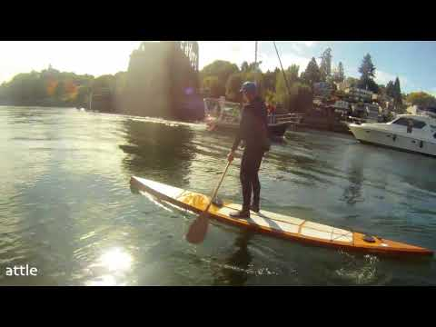 Wood Stand up paddle board from Splinter SUP