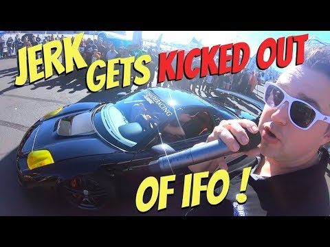 What NOT to do during the Low Car Limbo! This jerk is BANNED from Import Face-Off!