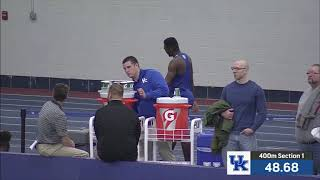 Nathaniel Bann 1st indoor 400m