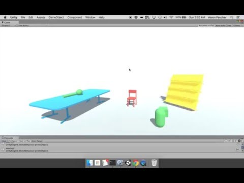 Using voice commands to control Unity objects