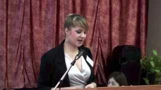 Жарова В.А. выступает на круглом столе
