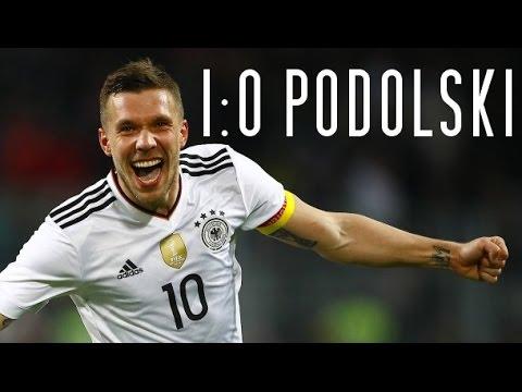 AMAZING last goal for LUKAS PODOLSKI (Germany - England 1-0)