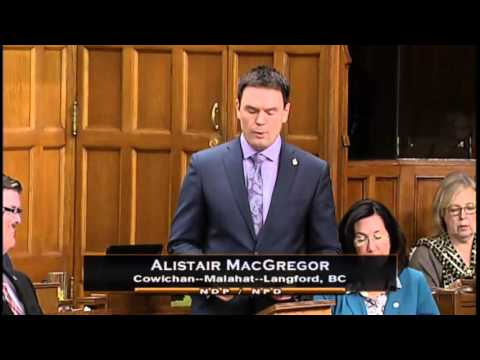 Alistair MacGregor supports repealing attacks on the labour movement - Feb 16, 2016