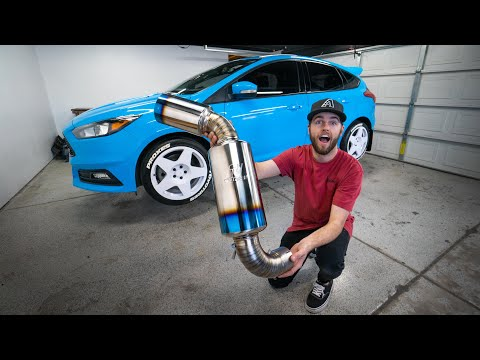 FIRST TOMEI EXHAUST ON A FORD FOCUS ST!!