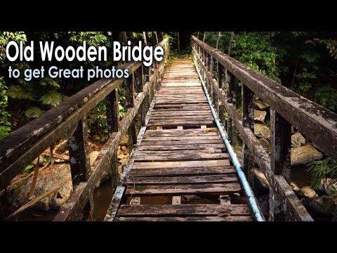 Old Wooden Bridge to get Great photos, Palau Waterfall in Kaeng Krachan
