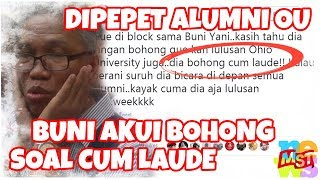 Dipepet Alumni OU, Buni Yani Akui Bohong Soal Cum Laude Saat Serang Jokowi