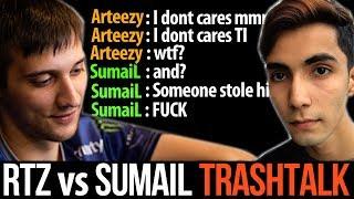 Arteezy vs SumaiL - TOP MMR Trashtalk Cancer Game Dota2