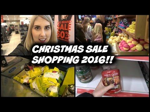 Boxing Day Sale Shopping 2016 UK Vlog