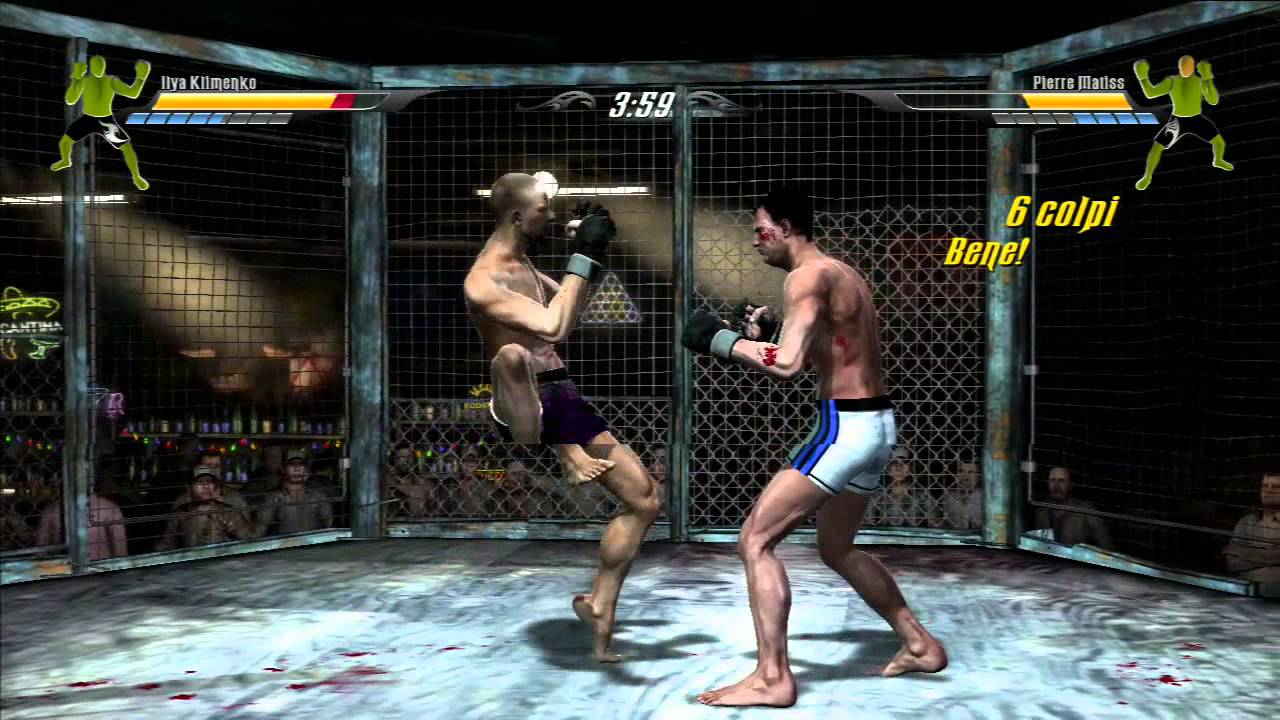 MMA supremacy ROCCO vs NINO ps3 GAMEPLAY