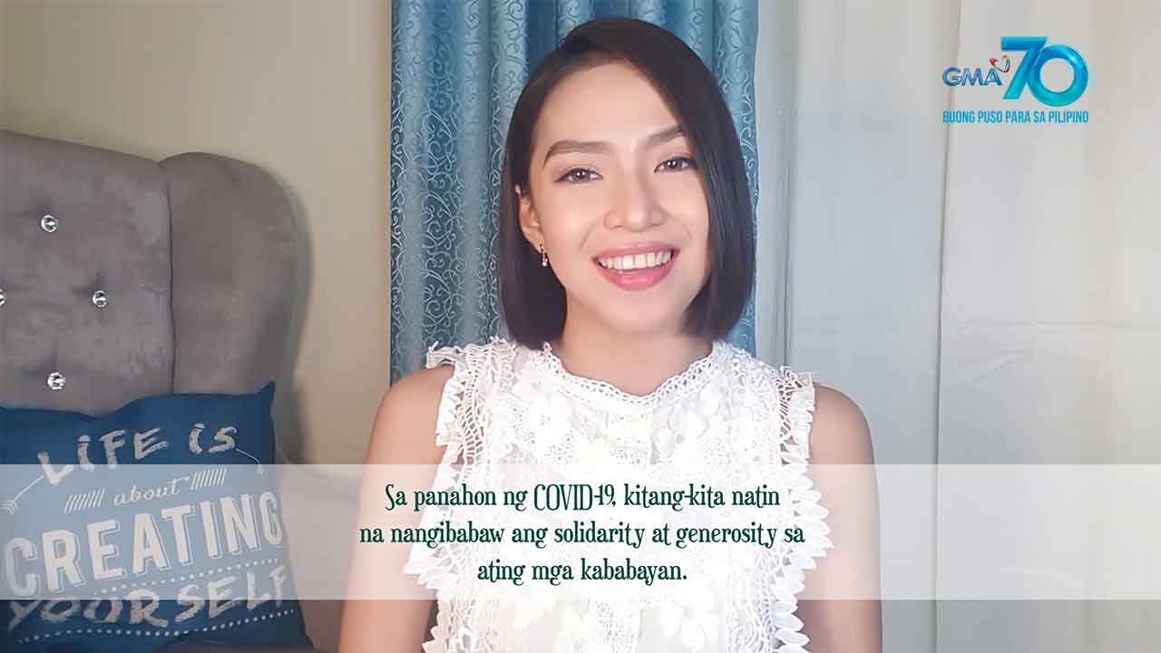 Kapuso Words of Wisdom: Generosity in the midst of crisis by Jeniffer Maravilla