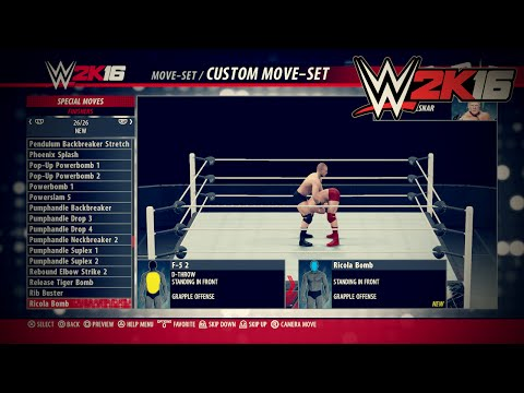 WWE 2K16 ALL NEW Moves