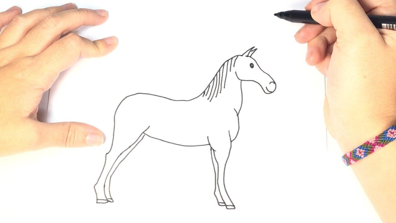 Cómo dibujar un Caballo Para Niños - YouTube