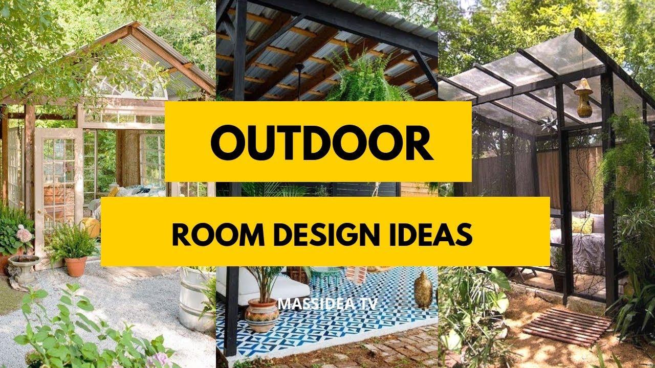 75 Relaxing Outdoor Room Design Ideas For Your Garden Youtube