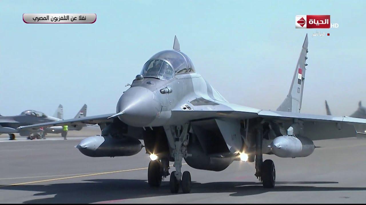 الرئيس السيسي يشهد بعض العروض الجوية خلال إفتتاح قاعدة برنيس العسكرية