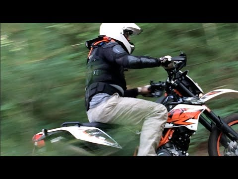 2014 KTM 690 Enduro R offroad on mountain trails